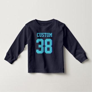 Jersey för sportar för marin- & turkossmåbarn | tshirts