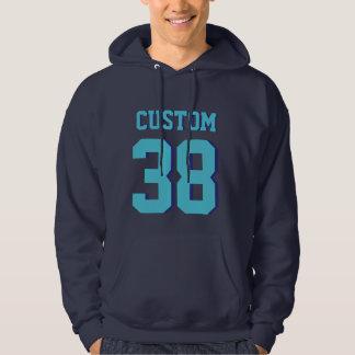 Jersey för sportar för marin- & turkosvuxen | hoodie