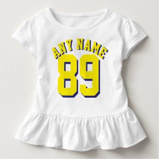 Jersey för sportar för vit- & gultsmåbarn | design tshirts