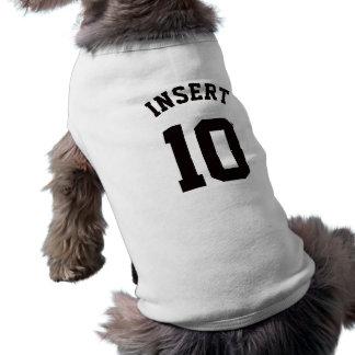Jersey för sportar för vit- & svarthusdjur | långärmad hundtöja