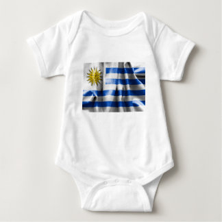 Jersey för Uruguay flaggababy Bodysuit T-shirt