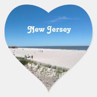 Jersey kust hjärtformat klistermärke