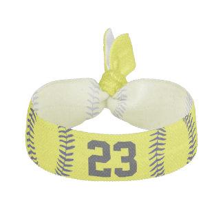 Jersey NUMRERAR softballhårtillbehör för flickor Hårband
