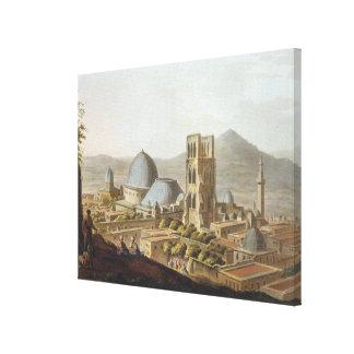 Jerusalem med kyrkan av den heliga sepulchren, p canvastryck