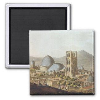 Jerusalem med kyrkan av den heliga sepulchren, p magnet