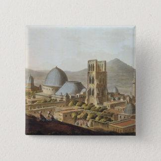 Jerusalem med kyrkan av den heliga sepulchren, p standard kanpp fyrkantig 5.1 cm