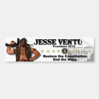 Jesse Ventura 2012 - återställande konstitutionen Bildekal