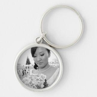 Jessy & Byambaa bröllopkeychain Rund Silverfärgad Nyckelring