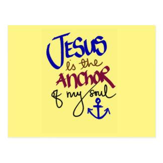 Jesus är ankra av min Soul Vykort