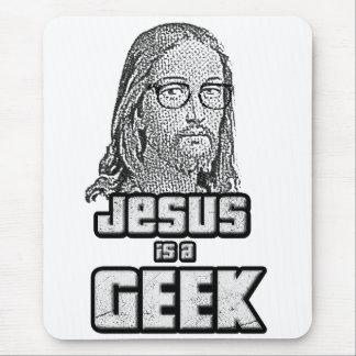 Jesus är en geek mus matta