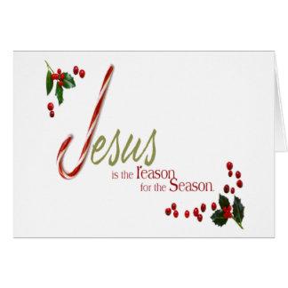 Jesus är kortet för resonerajulhälsningen hälsningskort