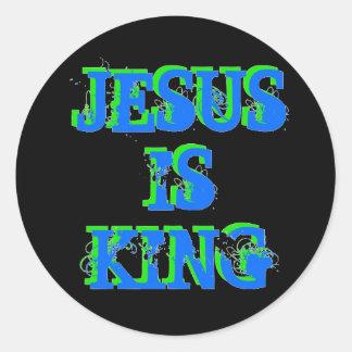 Jesus är kungen runt klistermärke