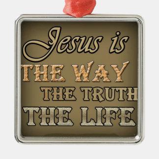 Jesus är långt julgransprydnad metall