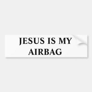 Jesus är min Airbag Bildekal