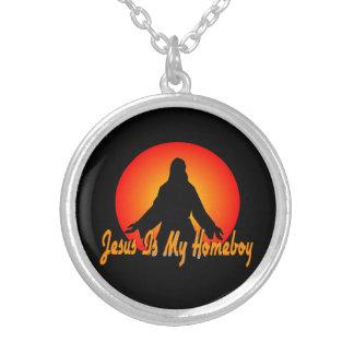Jesus är min Homeboy Silverpläterat Halsband