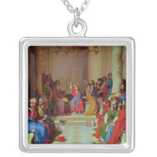 Jesus bland doktorerna, 1862 silverpläterat halsband