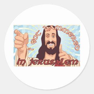 jesus bultade 2 runt klistermärke