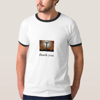 jesus christ, tacka dig tee shirt