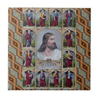 Jesus & de 12 apostlarna kakelplatta