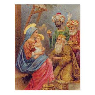 Jesus för julvintageNativity illustration Vykort