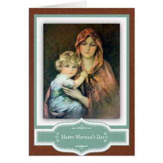 Jesus för mors dagMadonna barn oskuld Mary Hälsningskort