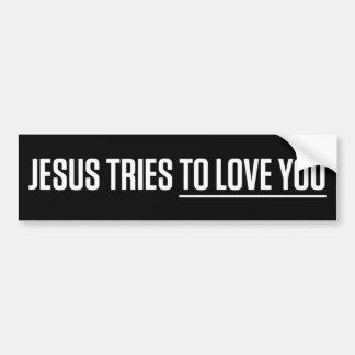 Jesus försök att älska dig bildekal