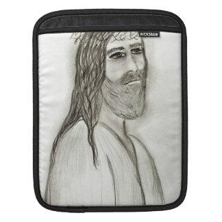 Jesus från sidan iPad sleeve