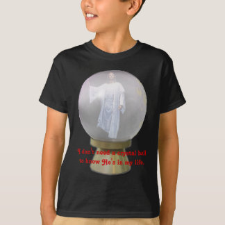 Jesus i en kristallkula t shirts