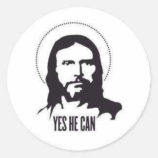 Jesus ja kan han runt klistermärke