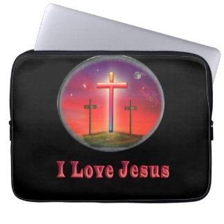 Jesus kärlek laptop sleeve