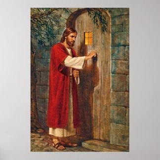 Jesus knackningar på dörren poster