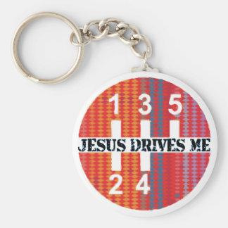 Jesus kör mig kristen keychain rund nyckelring