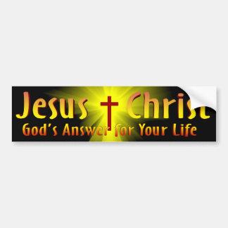 Jesus Kristus: Gud svar Bildekal