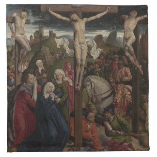 Jesus Kristus på kor Tygservett