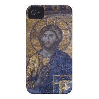 Jesus Kristus Pantokrator iPhone 4 Case-Mate Fodral