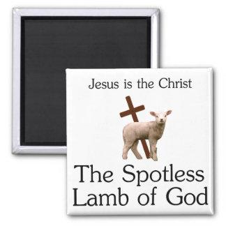 Jesus Kristus, skina ren lamb av guden Magnet