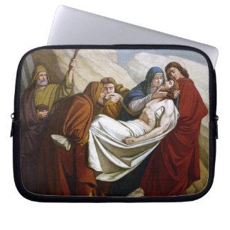 Jesus läggas i gravstationerna av kor 14 laptop sleeve