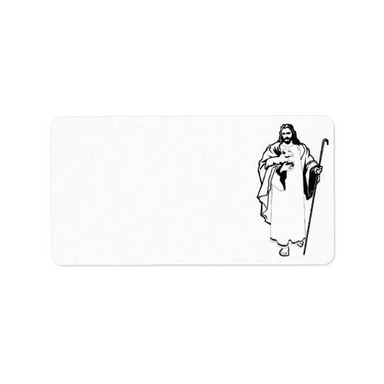 Jesus & lamben adressetikett