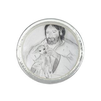 Jesus med lamben ring