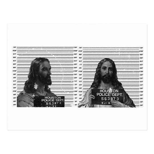 Jesus Mugshot Vykort