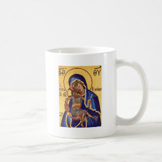 Jesus och Mary mosaisk bild Kaffemugg