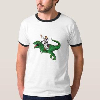 Jesus på en Dinosaur Tröjor