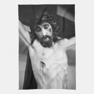 Jesus på kor kökshandduk