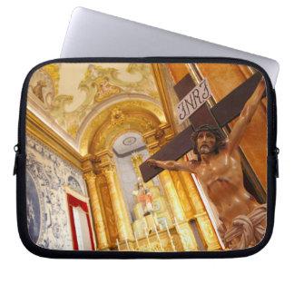 Jesus på kor laptop fodral