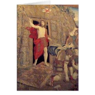 Jesus på uppståndelsetapestryen i Vaticanen Hälsningskort