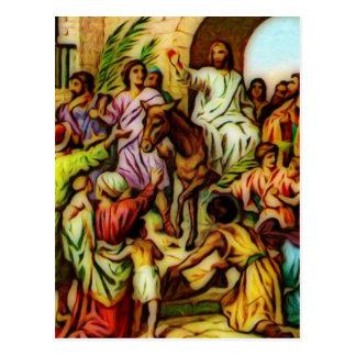 Jesus rider åsnan in i Jerusalem Vykort