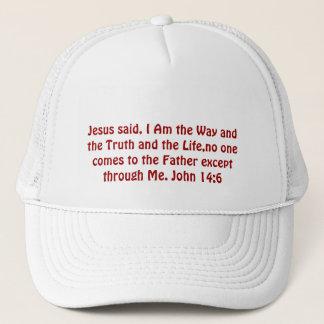 Jesus sade, den I-förmiddagen långt och sanningen Truckerkeps