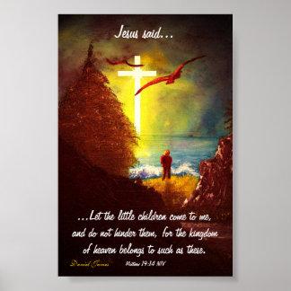 Jesus sade poster