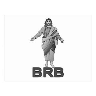 Jesus ska är höger baksida vykort