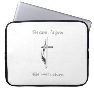 Jesus ska återgång merchandise laptop sleeve